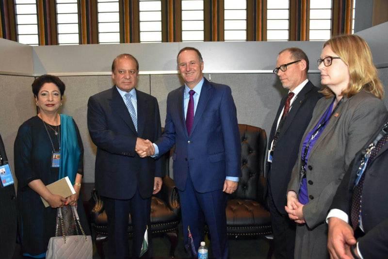 PM Nawaz meets New Zealand premier John Key on sidelines of UNGA session