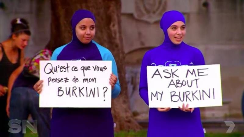 When this Australian woman wore a Burkini on a French beach in protest, people went crazy