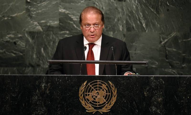 Nawaz at UNGA: No peace between Pakistan, India until Kashmir issue resolves