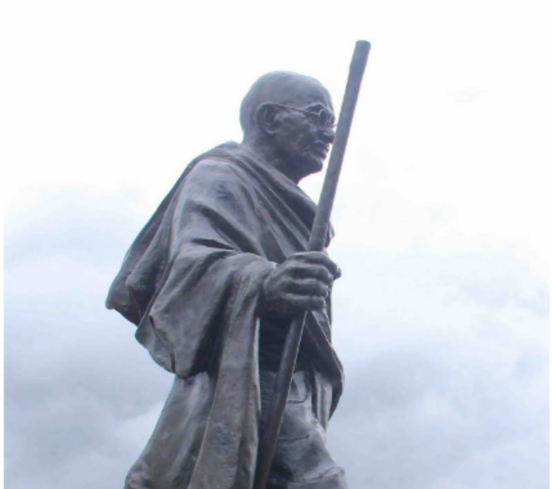 Why are students of Ghana University protesting against Gandhi?