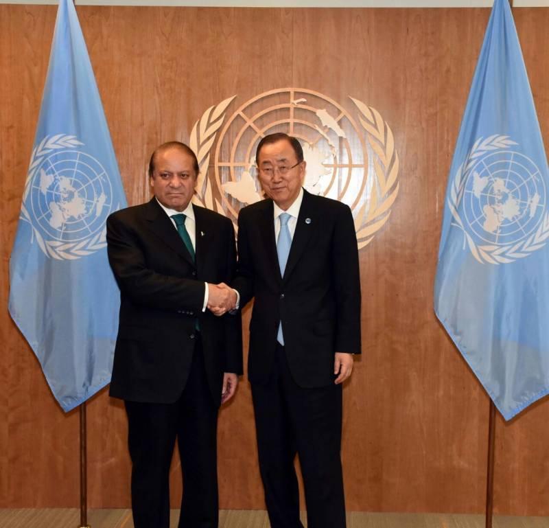 PM Nawaz hands over dossier of Indian atrocities in occupied Kashmir to Ban Ki-moon
