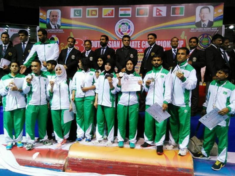 Pakistan karate players return home securing 19 medals in India