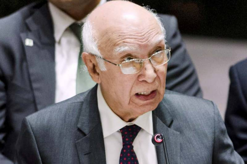 Unilateral revocation of Indus Water Treaty to be an act of war by India: Sartaj Aziz