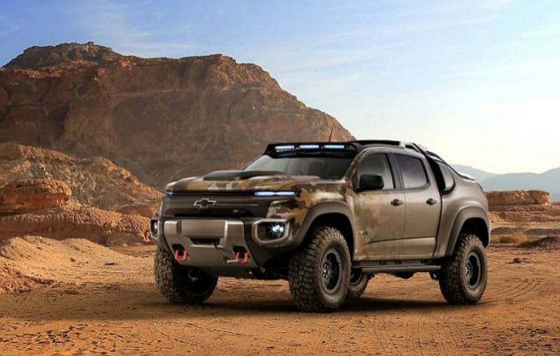 This silent stealth military truck carries its own power plant
