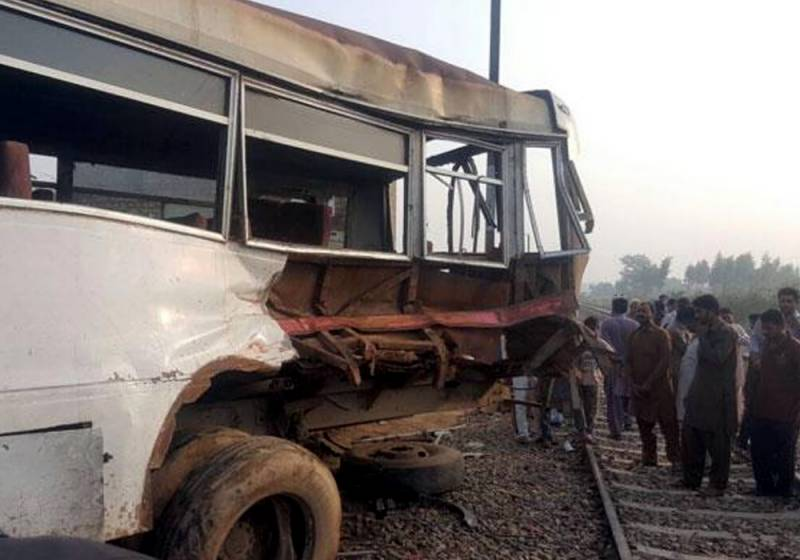 4 dead, 19 injured as freight train collides with bus near Pattoki