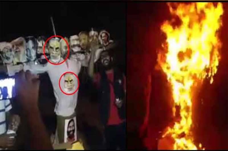 Indian students burn Modi's effigy on varsity campus