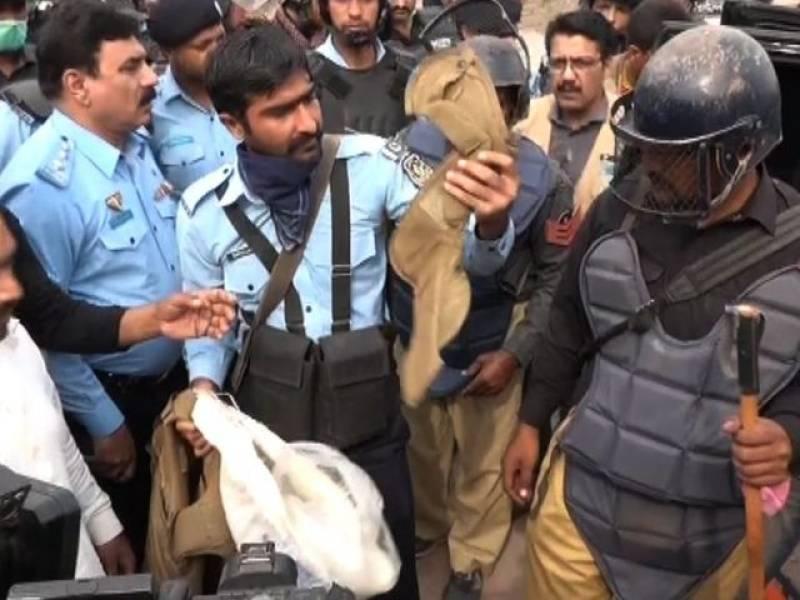 Six Kalashnikovs, wine bottles, grey francolin, recovered from PTI leader Ali Amin Gandapur's car