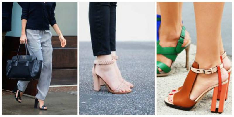 Block Heels: For those who cannot walk in pencil heels, these are winners