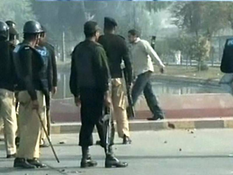 LIVE: Police-protesters clash over religious workers' arrests turns violent