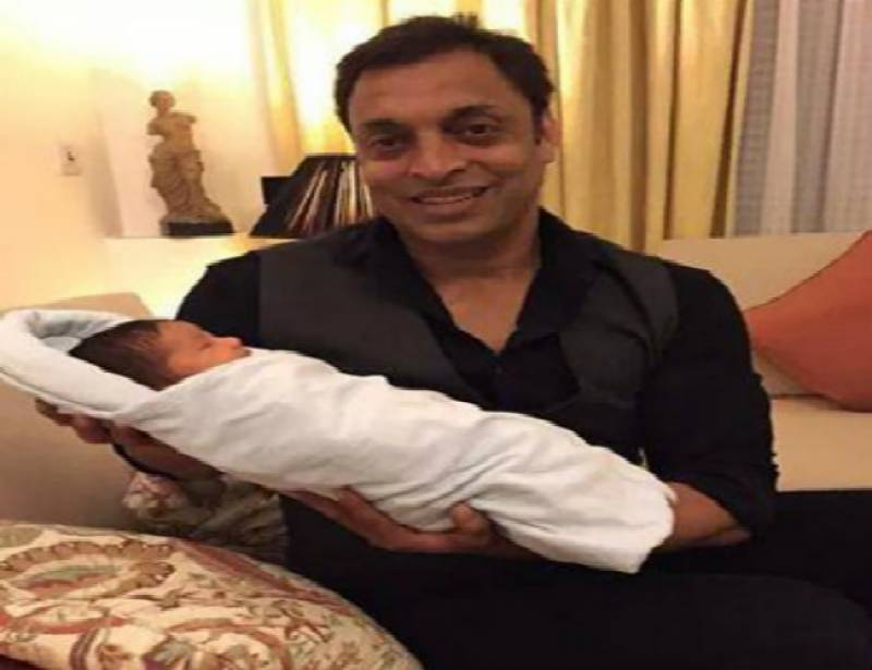Shoaib Akhtar blessed with baby boy