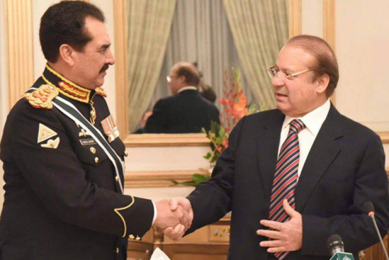 PM Nawaz pays rich tribute to Gen Raheel, says the chief demonstrated extraordinary skills