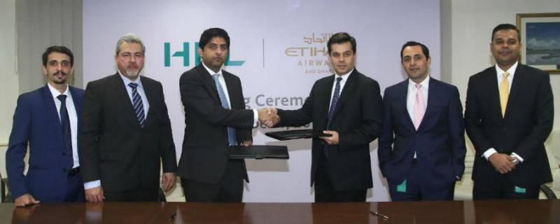 Etihad Airways Signs agreement with HBL