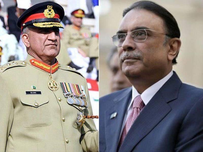 Asif Zardari felicitates Gen Bajwa for taking charge as COAS
