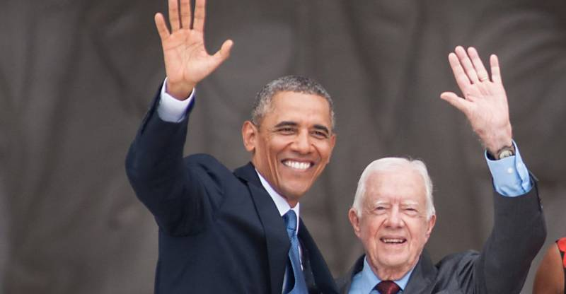 Former US president Jimmy Carter urges Obama to recognize Palestine before Trump's arrival