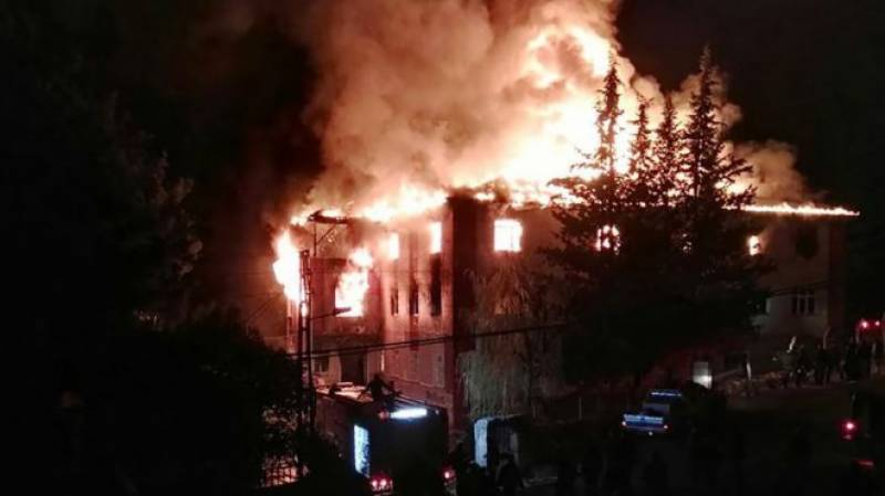 Twelve killed as fire breaks out at dormitory in Turkey