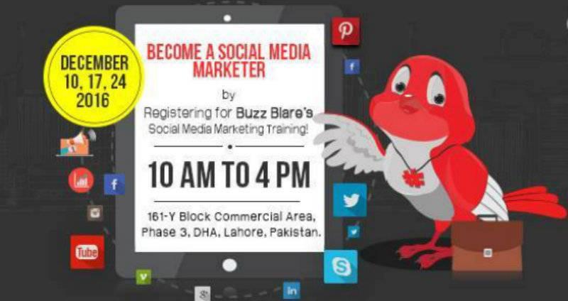 Social media marketing training at Buzz Blare