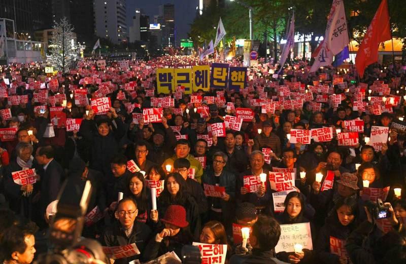 Impeachment motion filed against South Korean president amid large-scale protests