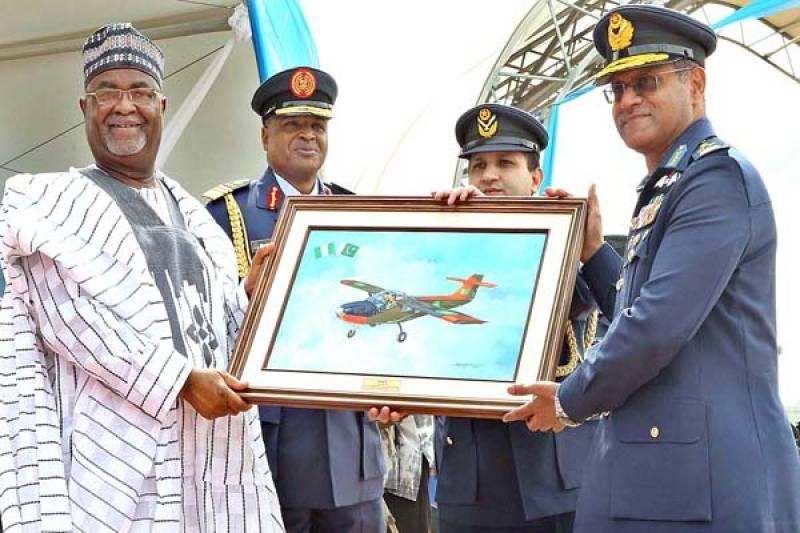 Pakistan hands over four Super Mushshak aircrafts to Nigeria