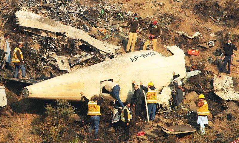 PIA's Islamabad-bound plane with 47 people on-board crashes near Havelian