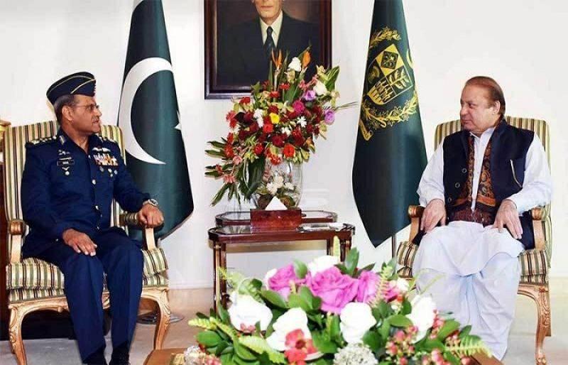 Air Chief Sohail Aman calls on PM Nawaz, discusses professional matters