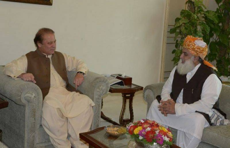 Fazlur Rehman calls on PM Nawaz, discusses development schemes in KP