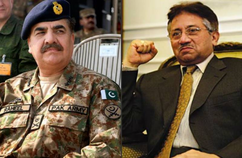 Pervez Musharraf takes U-turn regarding Raheel Sharif's help in influencing courts