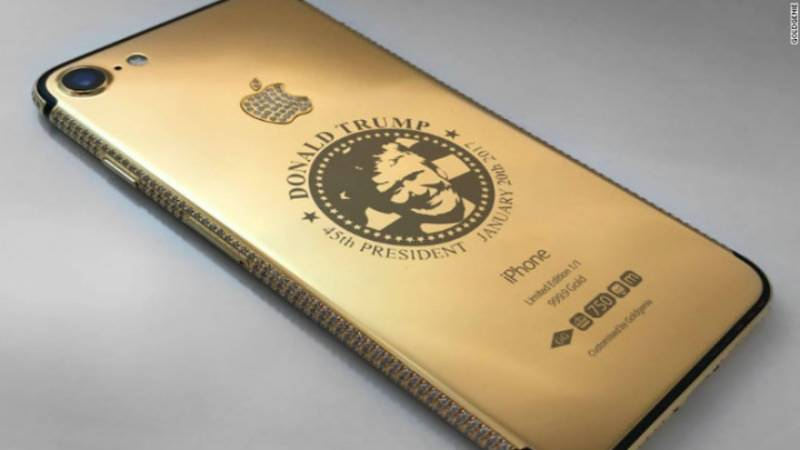 Solid Gold, Diamond-encrusted Donald Trump iPhone hits market