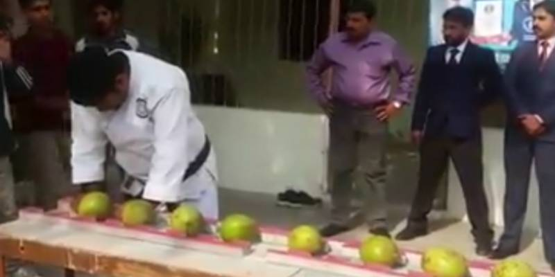Pakistani man sets Guinness World Record by smashing most coconuts with head in one minute (See Video)