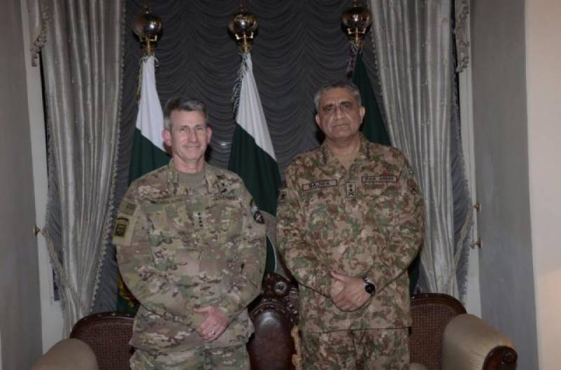 General John Nicholson calls on COAS General Qamar Bajwa