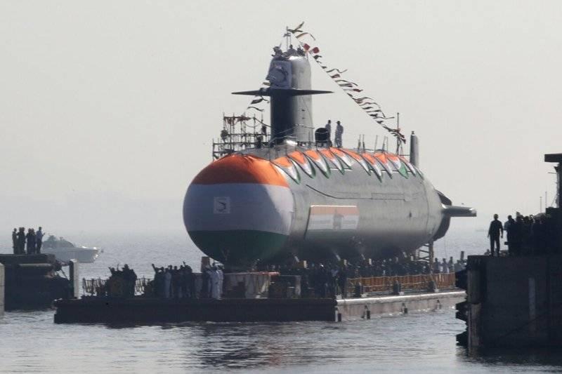 India launches Scorpene-class stealth submarine