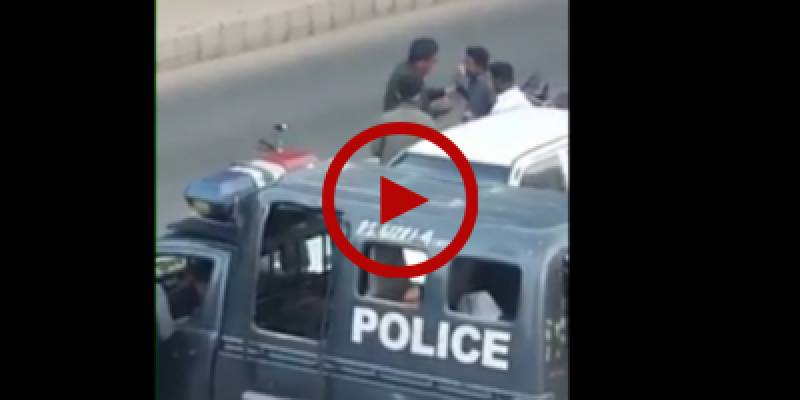 Karachi Police caught on camera taking bribes