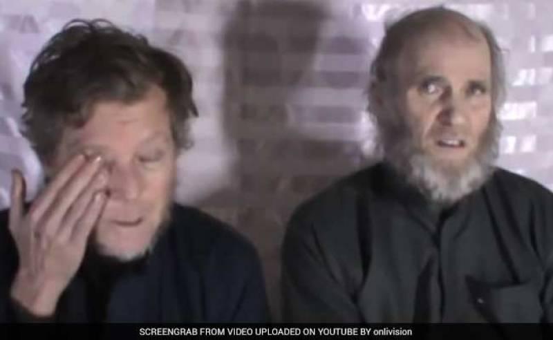 US, Australian hostages appear in Afghan Taliban video (see video)