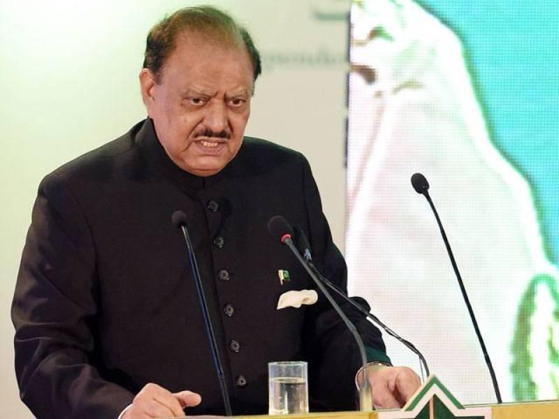 President Mamnoon urges defeating terrorist mindset for complete eradication of militancy