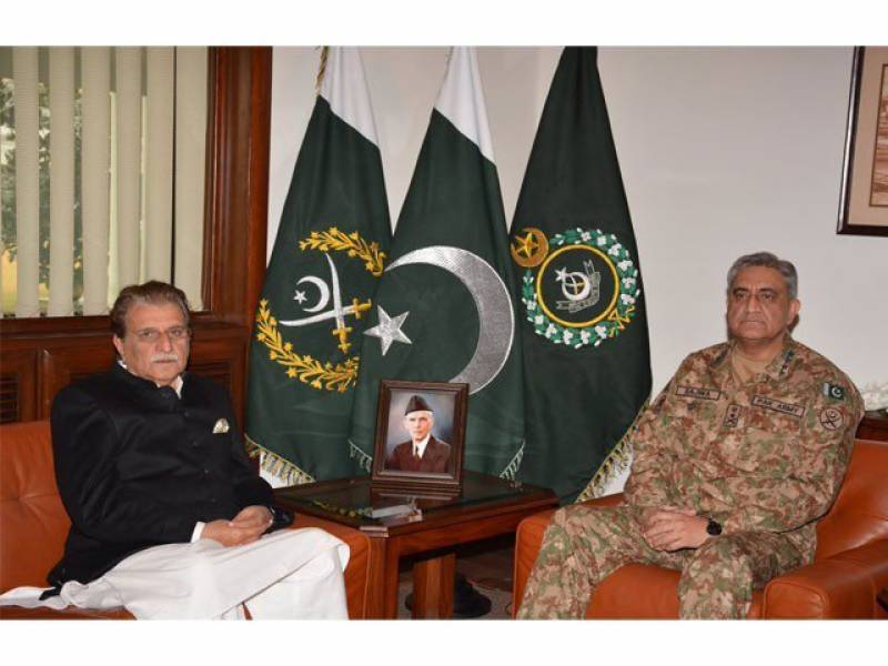 Army chief Qamar Bajwa, PM AJK discuss LoC situation