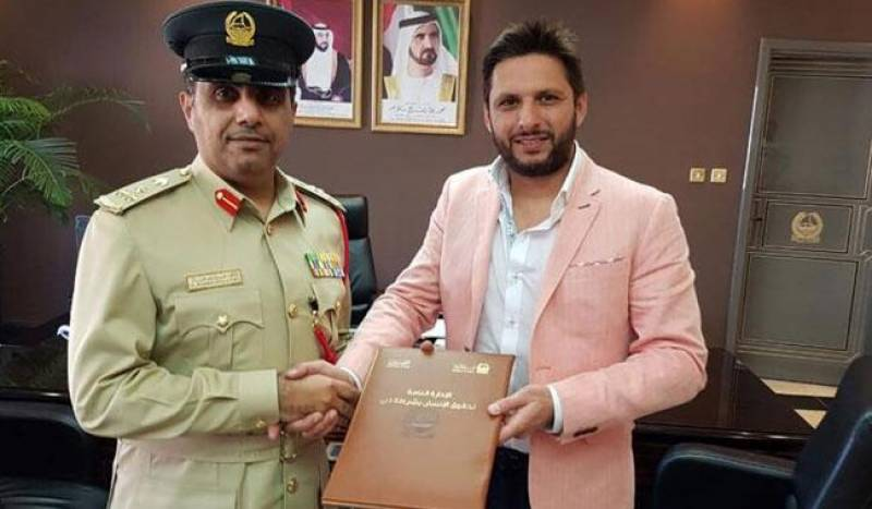 Shahid Afridi in Dubai to secure freedom for jailed Pakistanis