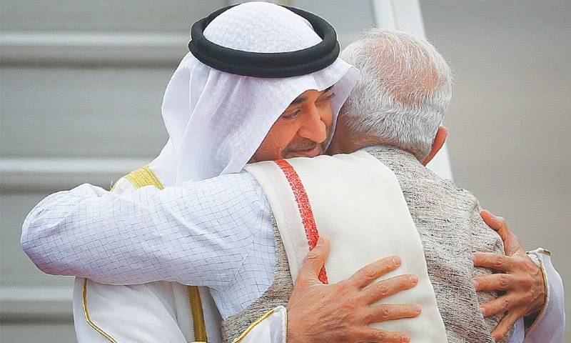 'The Serial Hugger' strikes again: Modi tries to bring India closer to UAE by breaking diplomatic protocol