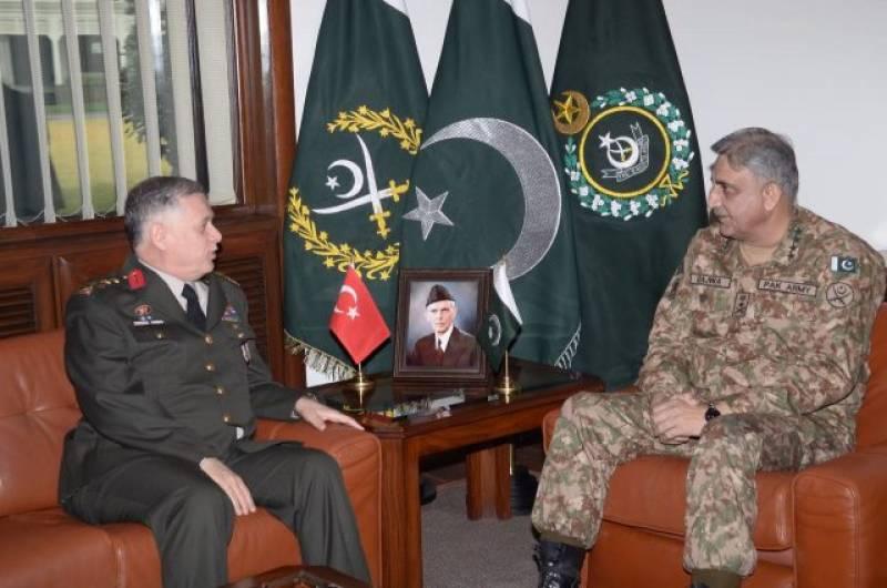 COAS Gen. Bajwa, Turkish deputy chief for strengthening military ties