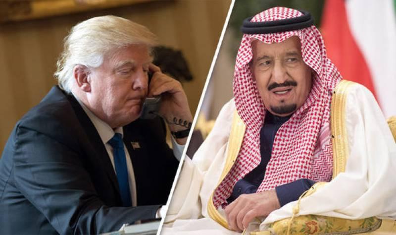 King Salman, Trump agree to support safe zones in Syria, Yemen