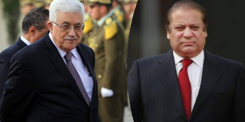 Palestinian president Mahmoud Abbas, PM Nawaz to jointly inaugurate Palestine embassy today