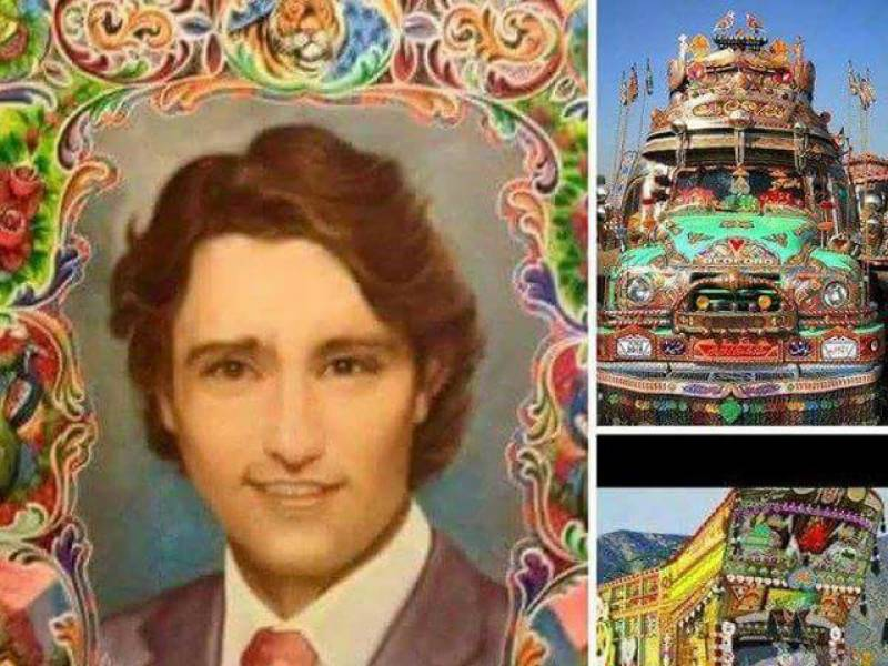 Canadian PM Justin Trudeau's 'truck art' in Pakistan is breaking the internet