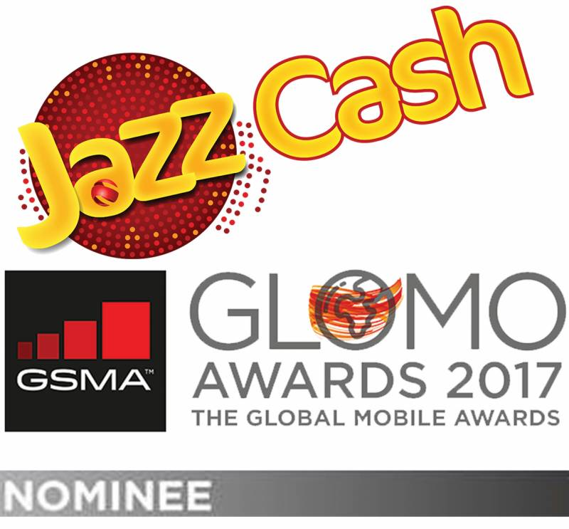 JazzCash Mobile Account nominated for GSMA Glomo Awards 2017