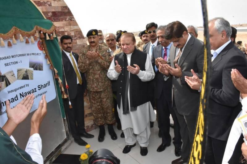 PM Nawaz inaugurates Karachi-Hyderabad M-9 motorway