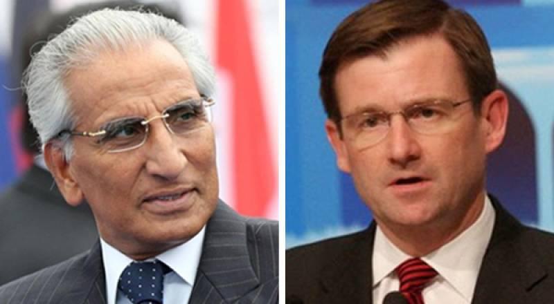 Tariq Fatemi, US Ambassador David Hale review bilateral relations