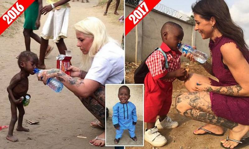Starving child who was left to die by his parents starts school one year on