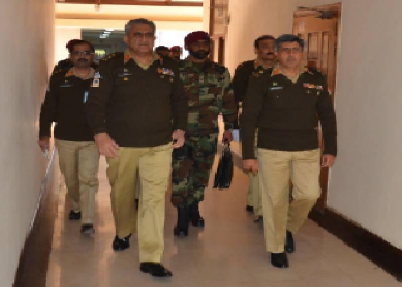COAS Gen. Qamar Bajwa visits Strategic Plans Division, hails operational preparedness