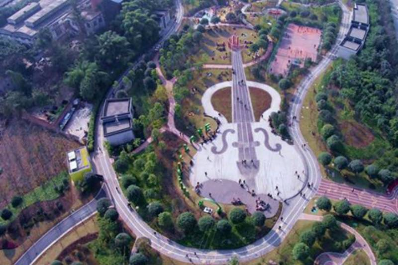 This Violin-shaped park square is the latest addition to China's tourist attractions