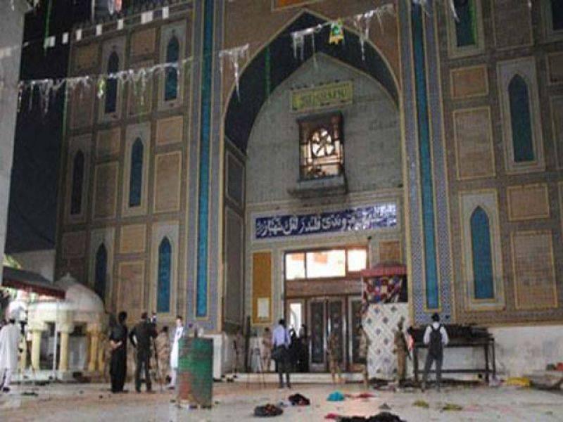 Enraged people protest attack on Lal Qalandar shrine, set police van on fire