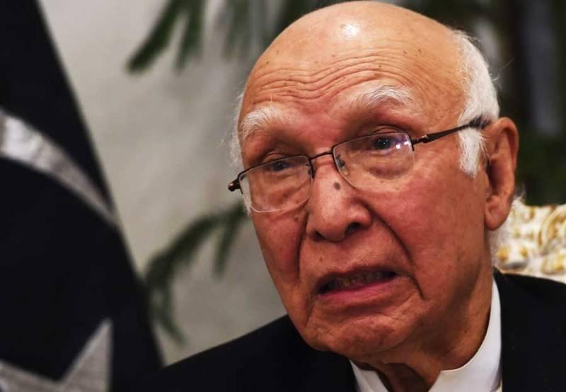 Sartaj Aziz urges Afghanistan to take action against Jamat-ul-Ahrar