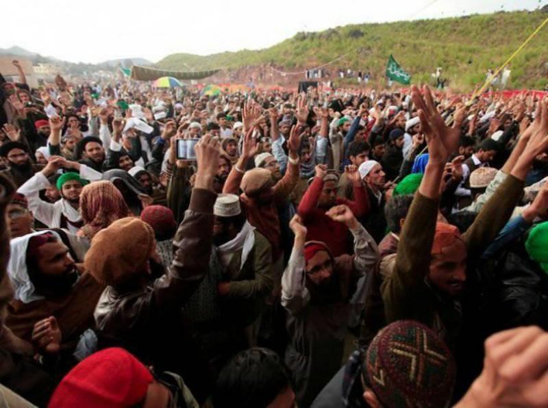 Thousands of Mumtaz Qadri's followers rally on first death anniversary in Islamabad despite ban