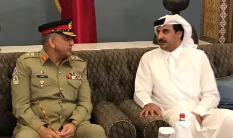 COAS Bajwa, Emir of Qatar discuss regional security; want enhanced defence cooperation